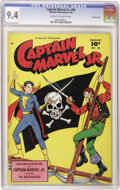 Golden Age (1938-1955):Superhero, Captain Marvel Jr. #82 Crowley Copy pedigree (Fawcett, 1950) CGC NM 9.4 Cream to off-white pages. Junior buckles his swash o...