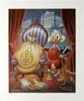 Original Comic Art:Paintings, Carl Barks - Till Death Do Us Part, Regular Edition Lithograph,numbered 427/495 (Another Rainbow, 1983). Based on a sketch ...(Total: 2 Items)
