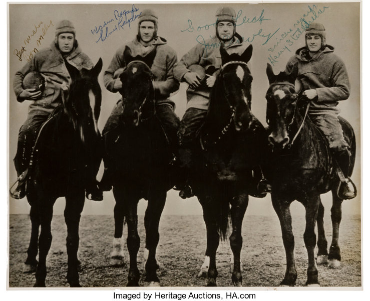 1924 The Four Horsemen of Notre Dame Signed Photograph