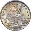 Seated Half Dollars, 1839 50C No Drapery MS64+ NGC. CAC. WB-101....