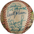 Baseball Collectibles:Balls, 1969 Boston Red Sox Team Signed Baseball Painted by George Sosnak....