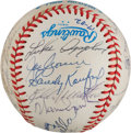 Autographs:Baseballs, 1970's Hall of Famers Multi-Signed Baseball from The Stan MusialCollection....