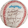 Autographs:Baseballs, 1980's Hall of Famers Multi-Signed Baseball from The Stan MusialCollection....