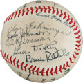 Autographs:Baseballs, 1981 Hall of Fame Induction Multi-Signed Baseball from The StanMusial Collection....