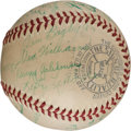 Autographs:Baseballs, 1939 Boston Red Sox Team Signed Baseball with Rookie Ted Williams....