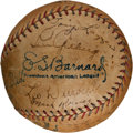 Autographs:Baseballs, 1929 New York Yankees Team Signed Baseball....