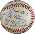 Autographs:Baseballs, 1943 St. Louis Cardinals Team Signed Baseball from The Stan Musial Collection....