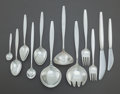 Silver Flatware, Continental:Flatware, A FORTY PIECE GEORG JENSEN DANISH CYPRESS PATTERN SILVERFLATWARE SERVICE FOR FOUR. Georg Jensen, Inc., Copenhag... (Total:40 Items)