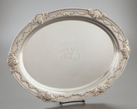 A WHITING SILVER OVAL TRAY Whiting Manufacturing Company, New York, New York, circa 1920 Marks: (W with griffin