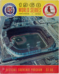 Autographs:Others, 1968 World Series Program Signed by Ten including Maris, Gibson& Rare Ron Willis....