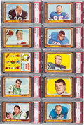 Football Cards:Sets, 1966 Topps Football High Grade Complete Set (132). ...