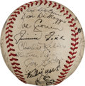 Autographs:Baseballs, 1941 American League All-Star Team Signed Baseball....