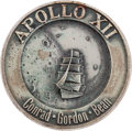 Explorers:Space Exploration, Apollo 12 Flown Silver Robbins Medallion, Serial Number 222, withSigned LOA from Astronaut Gene Cernan. ...
