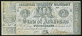 Obsoletes By State:Arkansas, (Little Rock), AR- The State of Arkansas $2 Oct. 13, 1864 Cr. 38A. ...