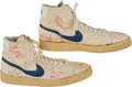 Basketball Collectibles:Others, 1980's Bill Bradley New York Knicks Signed Nike Shoes - Donated byBradley Personally to Charity. ...