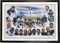 """Football Collectibles:Others, 1997 """"The Running Backs"""" Multi Signed Lithograph...."""