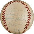 Autographs:Baseballs, 1956 Chicago White Sox Old Timers Team Signed Baseball with Walsh,Schalk, Faber....