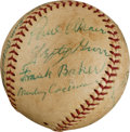 Autographs:Baseballs, 1956 Hall of Fame Induction Multi-Signed Baseball with Cobb,Foxx....