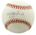 Autographs:Baseballs, Whitey Ford Single Signed Baseball. On of the greatest pitchers tostand on the mound for the New York Yankees, Whitey Ford...