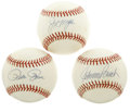 Autographs:Baseballs, Big Red Machine Single Signed Baseballs Lot of 3. Each of therepresented players here come from the Big Red Machine teams ...