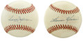 Autographs:Baseballs, Reggie Jackson and Harmon Killebrew Single Signed Baseball Lot of2. Pair of OAL (Brown) baseball here each sports a signat...