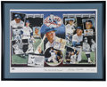 Autographs:Letters, Mickey Mantle Signed Lithograph . Large limited edition andnumbered lithograph depicting all the major milestones of the M...