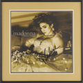 "Music Memorabilia:Autographs and Signed Items, Madonna ""Like a Virgin"" Autographed Album Cover. A cover forMadonna's 1984 album, signed by her in black marker and matted ...(Total: 1 Item)"