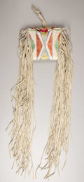 American Indian Art, A PLATEAU PAINTED AND FRINGED PARFLECHE CASE. . c.1890. ...
