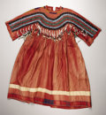 American Indian Art:War Shirts/Garments, A BLACKFEET BEADED CLOTH DRESS. . c. 1900. ...