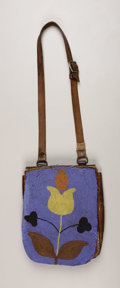 American Indian Art:Weapons, A PLATEAU BEADED LEATHER SHOT POUCH. . c. 1890. ...