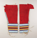 American Indian Art:Beadwork, A PAIR OF CROW GIRL'S BEADED CLOTH LEGGINGS. c. 1900. ... (Total: 2Items)