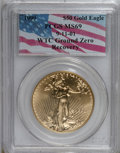Modern Bullion Coins, 1999 G$50 One-Ounce Gold Eagle MS69 PCGS. 9-11-01 WTC Ground ZeroRecovery. PCGS Population (1285/9). NGC Census: (0/0). N...