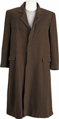 "Movie/TV Memorabilia:Costumes, ""Highlander: Endgame"" Costume Trench Coat. A full-length brown wool, satin-lined men's trench coat by Charisma of california... (Total: 1 Item)"