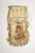 American Indian Art:Beadwork, A SIOUX BEADED HIDE POUCH. . c. 1900. ...