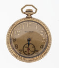 Timepieces:Pocket (post 1900), Waltham 15 Jewel Open Face Pocket Watch. ...