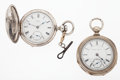Timepieces:Pocket (pre 1900) , Illinois & Waltham Key Winds Pocket Watches. ... (Total: 2Items)