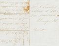 Autographs:U.S. Presidents, Mary Todd Lincoln Autograph Letter Twice Signed....