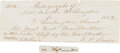 Autographs:U.S. Presidents, Martha Washington Signature with Letter of Family Provenance....