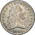 Early Half Dimes, 1794 H10C MS62 NGC. CAC. V-4, LM-4, R.4....