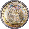 Seated Quarters, 1855 25C Arrows MS67+ ★ NGC....