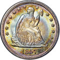 Seated Quarters, 1857 25C MS68 ★ NGC. CAC....