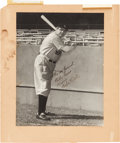 "Autographs:Photos, 1942 Babe Ruth Signed Oversized Photograph from ""The Pride ofthe Yankees"" Filming...."