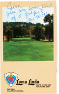 Autographs:Others, Circa 1990 Mickey Mantle Signed Golf Scorecard with SnapshotPhotographs....