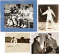 Autographs:Photos, Early 1930's Ellsworth Vines Personally Owned Signed PhotographsLot of 7....