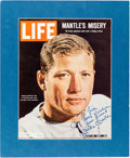 Autographs:Others, 1980's Mickey Mantle Signed Life Magazine Cover....