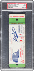 Baseball Collectibles:Tickets, 1955 World Series Game Three Full Proof Ticket, PSA EX-MT 6....