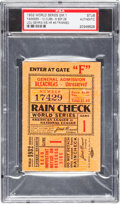 Baseball Collectibles:Tickets, 1932 World Series Game One Ticket Stub, PSA Authentic....