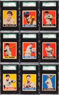 Baseball Cards:Lots, 1948 Leaf Baseball SGC Graded Short Prints Collection (19) WithKell, Feller & Newhouser! ...