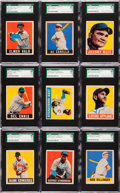 Baseball Cards:Lots, 1948 Leaf Baseball SGC Graded Collection (9) With 2 Short Prints....