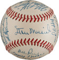 Autographs:Baseballs, 1948 St. Louis Cardinals Team Signed Baseball from The Stan MusialCollection....